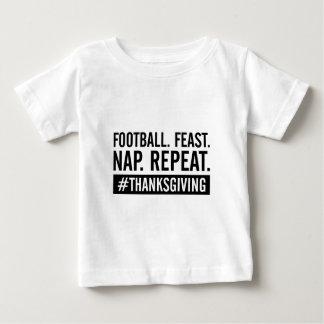 Camiseta Para Bebê Repetição da acção de graças