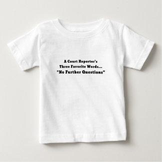 Camiseta Para Bebê Repórteres de corte três palavras favoritas nenhum