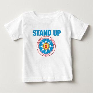 Camiseta Para Bebê represente acima a rocha ereta