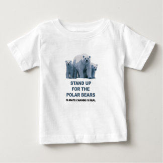 Camiseta Para Bebê Represente acima os ursos polares