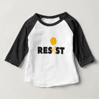 Camiseta Para Bebê resista a flor