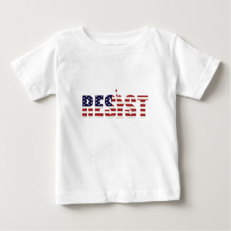 Camiseta Para Bebê Resista a liberdade da resistência do Anti-Trunfo