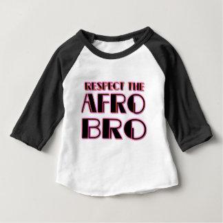 Camiseta Para Bebê RESPEITE o preto de Bro- PNK do AFRO