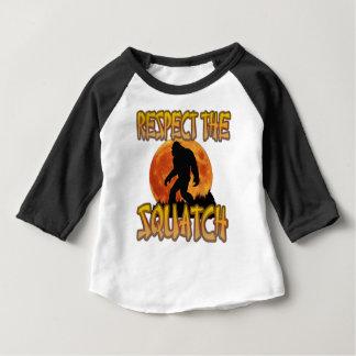 Camiseta Para Bebê Respeite o Squatch