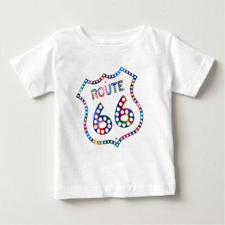 Camiseta Para Bebê Respingo da cor da rota 66!
