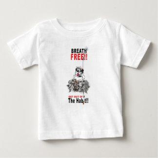 Camiseta Para Bebê Respire livre - PARE DE FUMAR