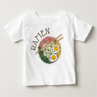 Camiseta Para Bebê Restaurante japonês Foodie da comida da bacia dos