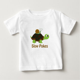 Camiseta Para Bebê Retarde puxões tartaruga bonito e caracol