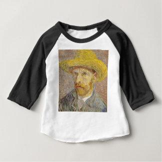 Camiseta Para Bebê Retrato de auto de Vincent van Gogh com arte do