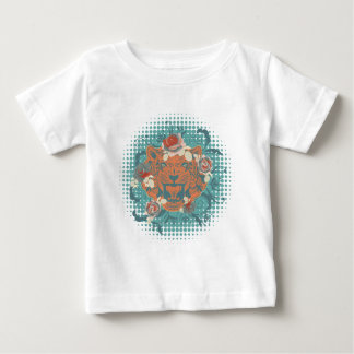 Camiseta Para Bebê Retrato decorativo 3 do tigre