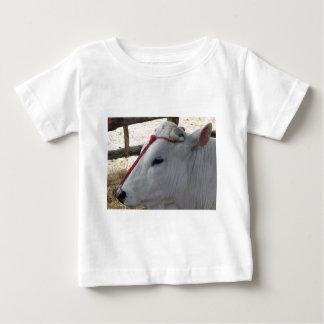 Camiseta Para Bebê Retrato do Chianina, raça italiana do gado