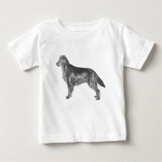 Camiseta Para Bebê Retriever revestido liso