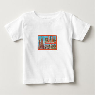 Camiseta Para Bebê Retrospecto de Barcelona