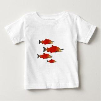 Camiseta Para Bebê Reunião dos salmões