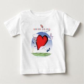 Camiseta Para Bebê rhode - coração principal da ilha, fernandes tony