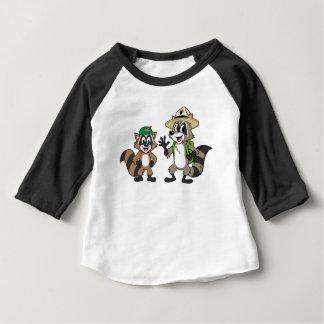 Camiseta Para Bebê Rick & Ricky da guarda florestal do rick | da