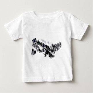 Camiseta Para Bebê Ridge das árvores