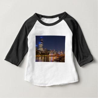 Camiseta Para Bebê Rio de Melbourne Yarra na noite
