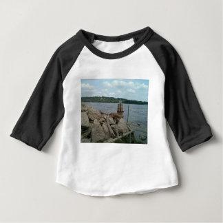 Camiseta Para Bebê Rio Mississípi de Riverwalk Dubuque Iowa
