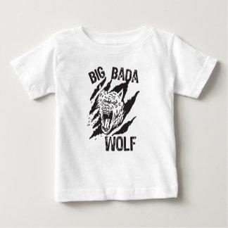 Camiseta Para Bebê Riscos grandes da pata do lobo de Bada