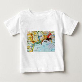 Camiseta Para Bebê Riviera agradável, francês, France