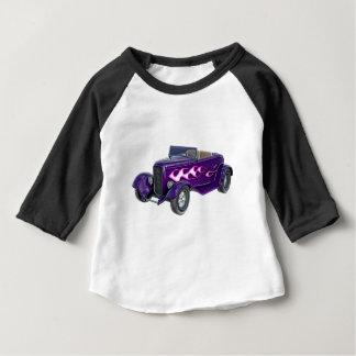 Camiseta Para Bebê Roadster de 1932 roxos com chama
