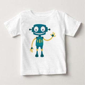 Camiseta Para Bebê Robô azul