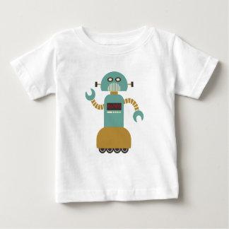 Camiseta Para Bebê Robô retro engraçado do rolo