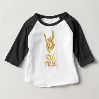 Camiseta Para Bebê Rock and roll