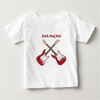 Camiseta Para Bebê Rock and roll com as duas guitarra elétricas