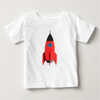 Camiseta Para Bebê Rocket vermelho