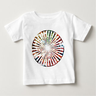 Camiseta Para Bebê Roda da fortuna - design do vermelho da faísca