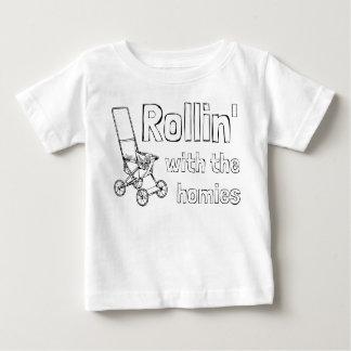 Camiseta Para Bebê Rollin com os homies