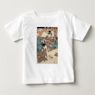Camiseta Para Bebê Rolo velho da gueixa japonesa do ukiyo-e do