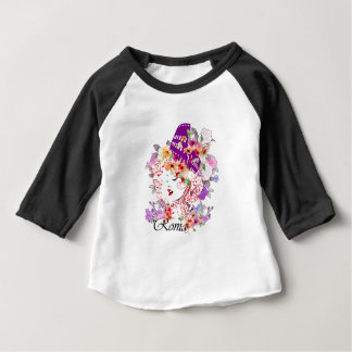 Camiseta Para Bebê Roma na mulher