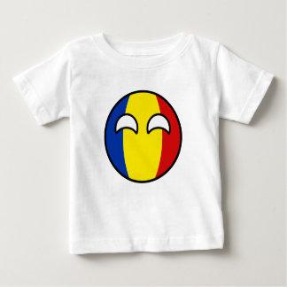 Camiseta Para Bebê Romania Geeky de tensão engraçado Countryball