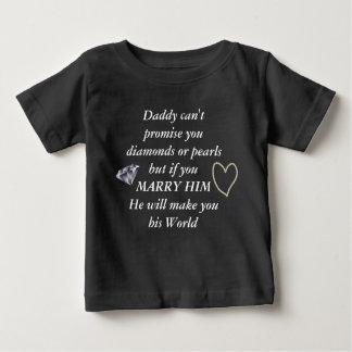 Camiseta Para Bebê Romântico case-me poema