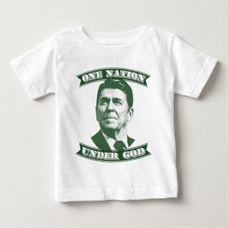 Camiseta Para Bebê Ronald Reagan uma nação sob o deus