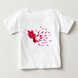 Camiseta Para Bebê Rosa colorido do curso da pintura