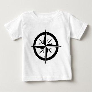 Camiseta Para Bebê Rosa de compasso