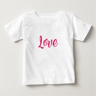 Camiseta Para Bebê Rosa do amor