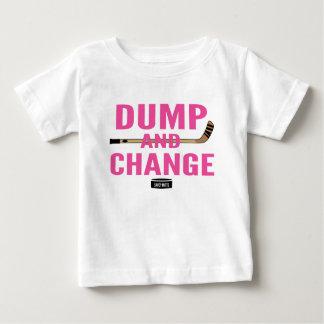 Camiseta Para Bebê Rosa do bebé do hóquei da descarga e da mudança