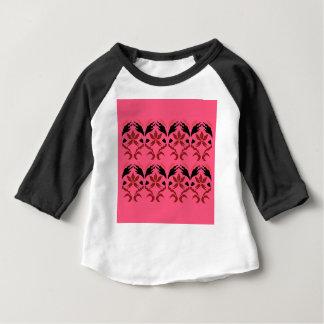 Camiseta Para Bebê Rosa do ethno dos elementos do design