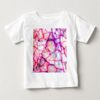 Camiseta Para Bebê Rosa quente & quartzo Veiny roxo