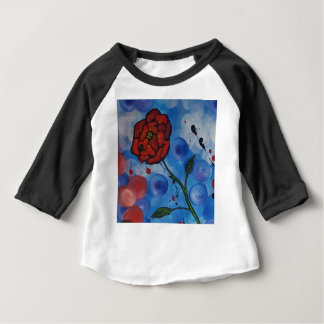 Camiseta Para Bebê rosas & bolhas