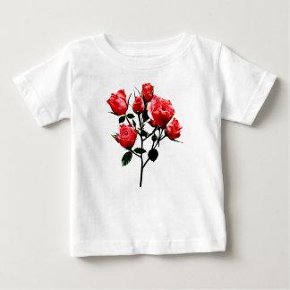 Camiseta Para Bebê Rosas cor-de-rosa escuros do bebê
