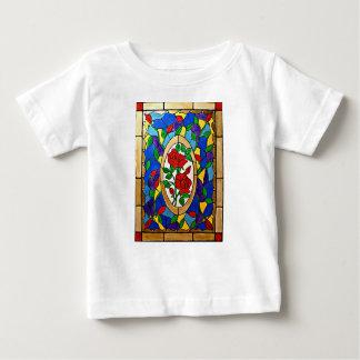 Camiseta Para Bebê Rosas vermelhas do vitral