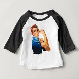 Camiseta Para Bebê Rosie clássico feito sob encomenda o rebitador