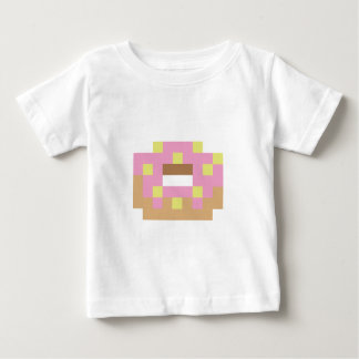 Camiseta Para Bebê Rosquinha cor-de-rosa do fosco do pixel