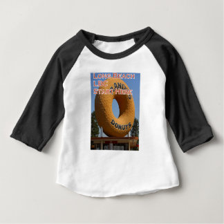 Camiseta Para Bebê Rosquinhas Long Beach Califórnia LBC de Ransdys